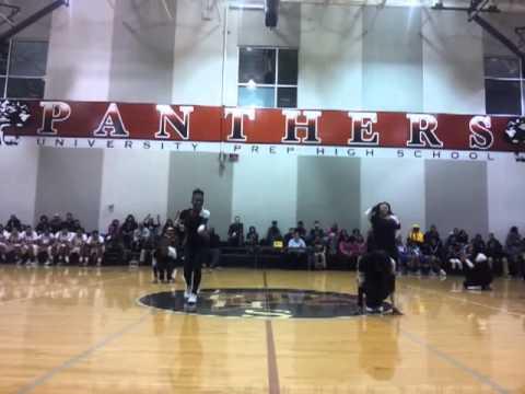 University Prep High School Cheer team 2013 - YouTube