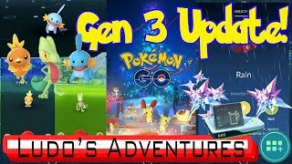 NEW GEN 3 GAMEPLAY FOOTAGE - EVERYTHING YOU NEED TO KNOW ABOUT THE NEW UPDATE - POKEMON GO VLOG