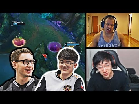 TL OFFERS FAKER AND BJERGSEN A SPOT   TYLER1 REACTS TO ZOE AFTER HER BUFF   VOYBOY   LOL MOMENTS