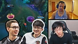 TL OFFERS FAKER AND BJERGSEN A SPOT | TYLER1 REACTS TO ZOE AFTER HER BUFF | VOYBOY | LOL MOMENTS