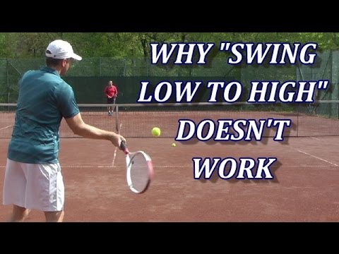 """Two Tennis Tips That Work Better Than """"Swing Low To High"""""""