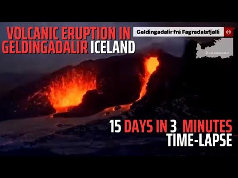 15 days, Three minutes - Volcanic Eruption in Geldingadalir Iceland - Time-Lapse