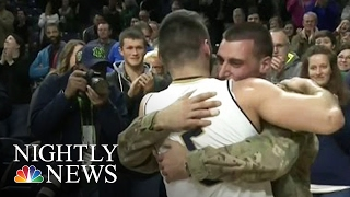 Video of Player's Emotional Reunion With Military Brother Goes Viral | NBC Nightly News