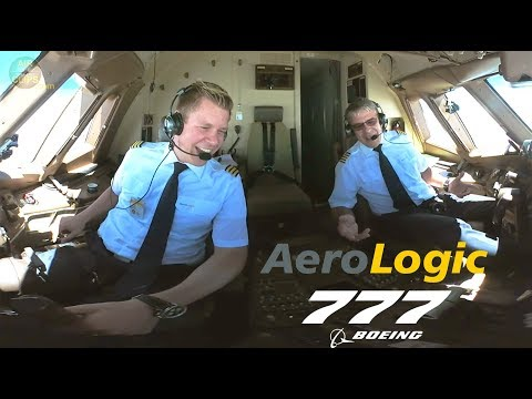 STUNNING PILOTS!!! Aerologic Boeing 777F ULTIMATE COCKPIT MOVIE To LEJ [AirClips Full Flight Series]