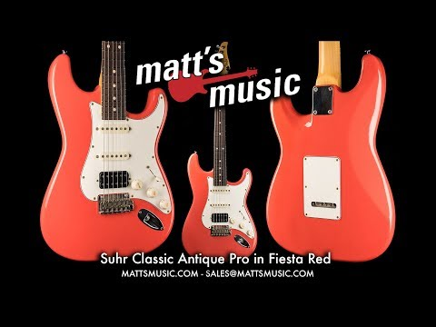 Matt's Music - Suhr Classic Antique Pro in Fiesta Red - Joe Sprunt
