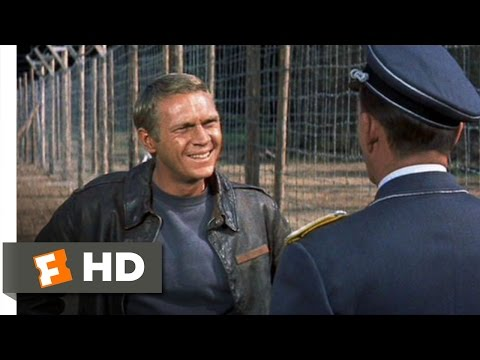 The Great Escape (1/11) Movie CLIP - To Cross the Wire Is Death (1963) HD