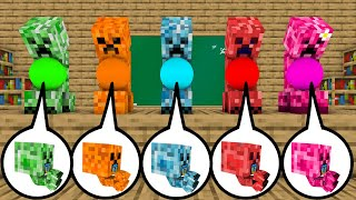 Monster School All Creepers Got New Babies - Minecraft Animation