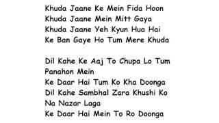 Khuda Jaane Lyrics Full Song Lyrics Movie - Bachna Ae Haseeno | KK, Shilpa Rao