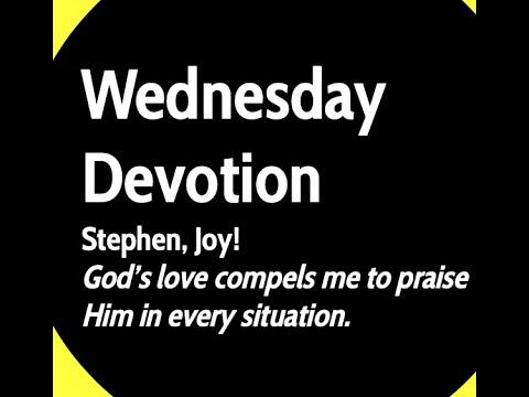 Wednesday, September 9, Devotion, Mount Lebanon Lutheran School