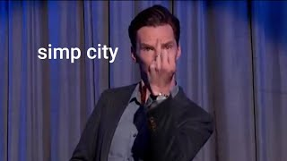 benedict cumberbatch having a crush on his wife for 3:44 minutes