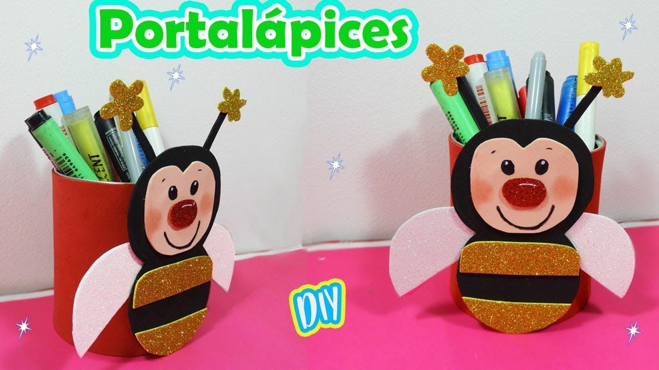 Portalápices Con Foami Manualidades Para Niños Youtube