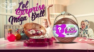 Lol Big Surprise Mega Gold Glitter Ball the Limited Edition L.O.L Big Surprise Ball Opening Review