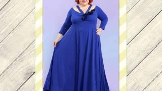 видео нарядные платья для полных женщин