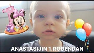 VLOG 1: Anastasijin 1.rođendan! 🎊 🎉 🎈Prohodala je? 😮