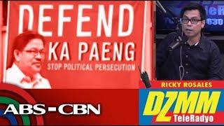 DZMM TeleRadyo: Leftist leaders' camp questions court flip-flop over murder rap