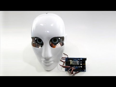 Robot Head Controlled by Wii Remote