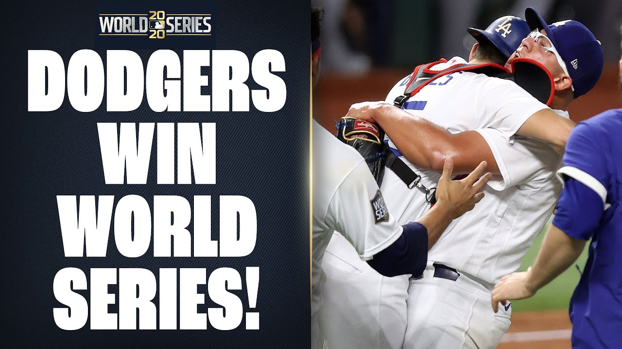 Dodgers win 2020 World Series! (Final out of World Series Game 6!) - YouTube