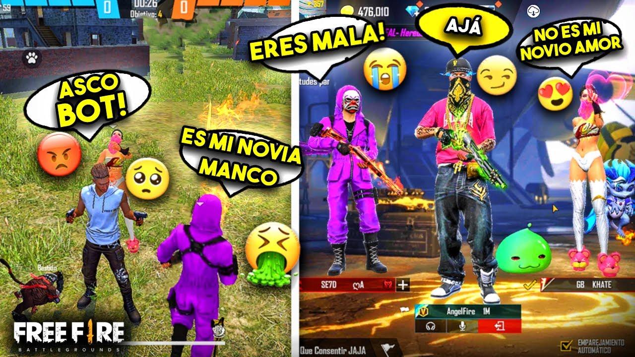 """INTERESADA RICA """"me llama BOT por mi ROPA"""" con su NOVIO y se LLEVAN SORPRESA!! FREE FIRE"""