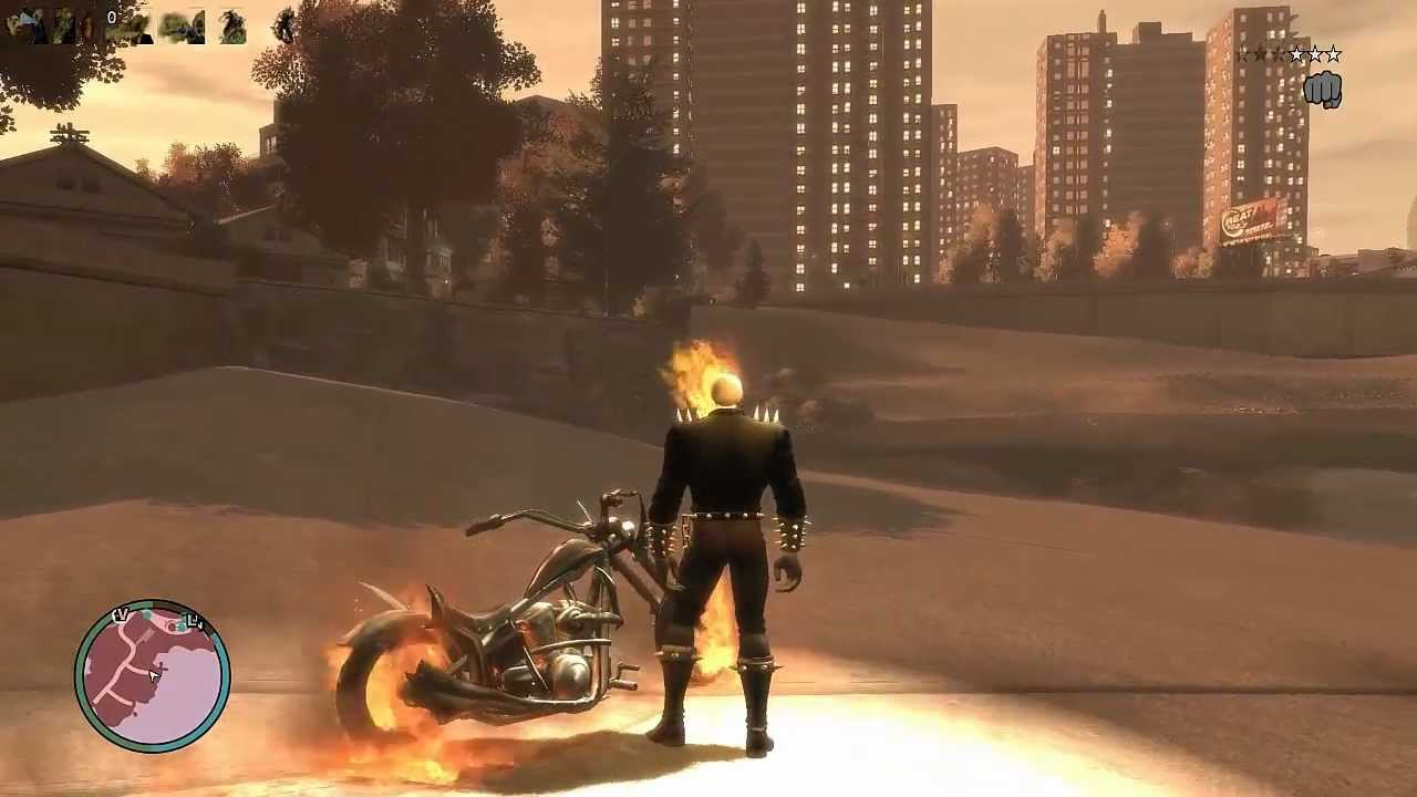 GTAIV Ghost Rider mod