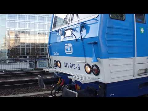 Dresden Hbf/371 015-9 Bastard jako EC směr Praha hl. n.