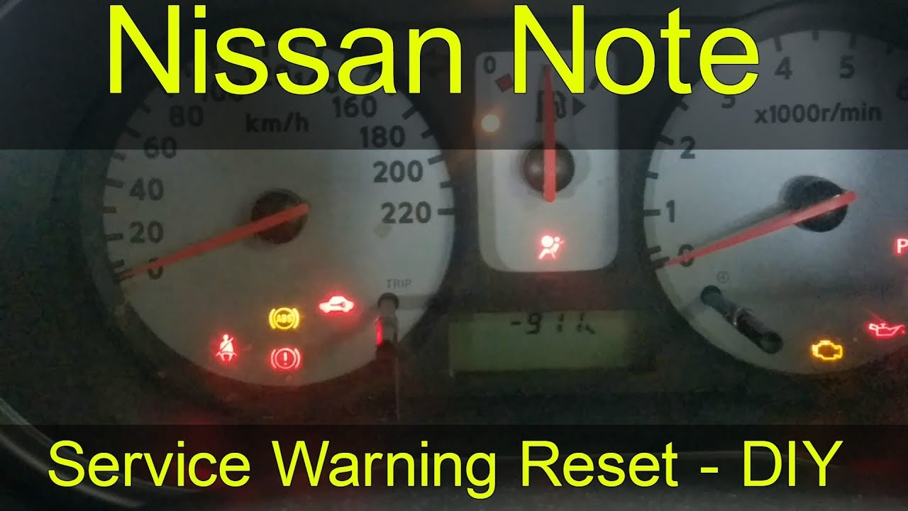 Nissan Note Service Warning Reset - How To DIY