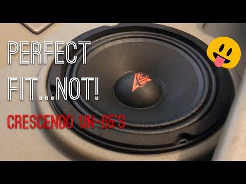 Hummer H2 aftermarket door speaker install crescendo UN-65's