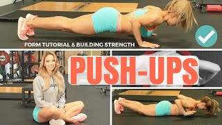 Lais DeLeon - Push-Up Form Tutorial &amp How To Increase Strength