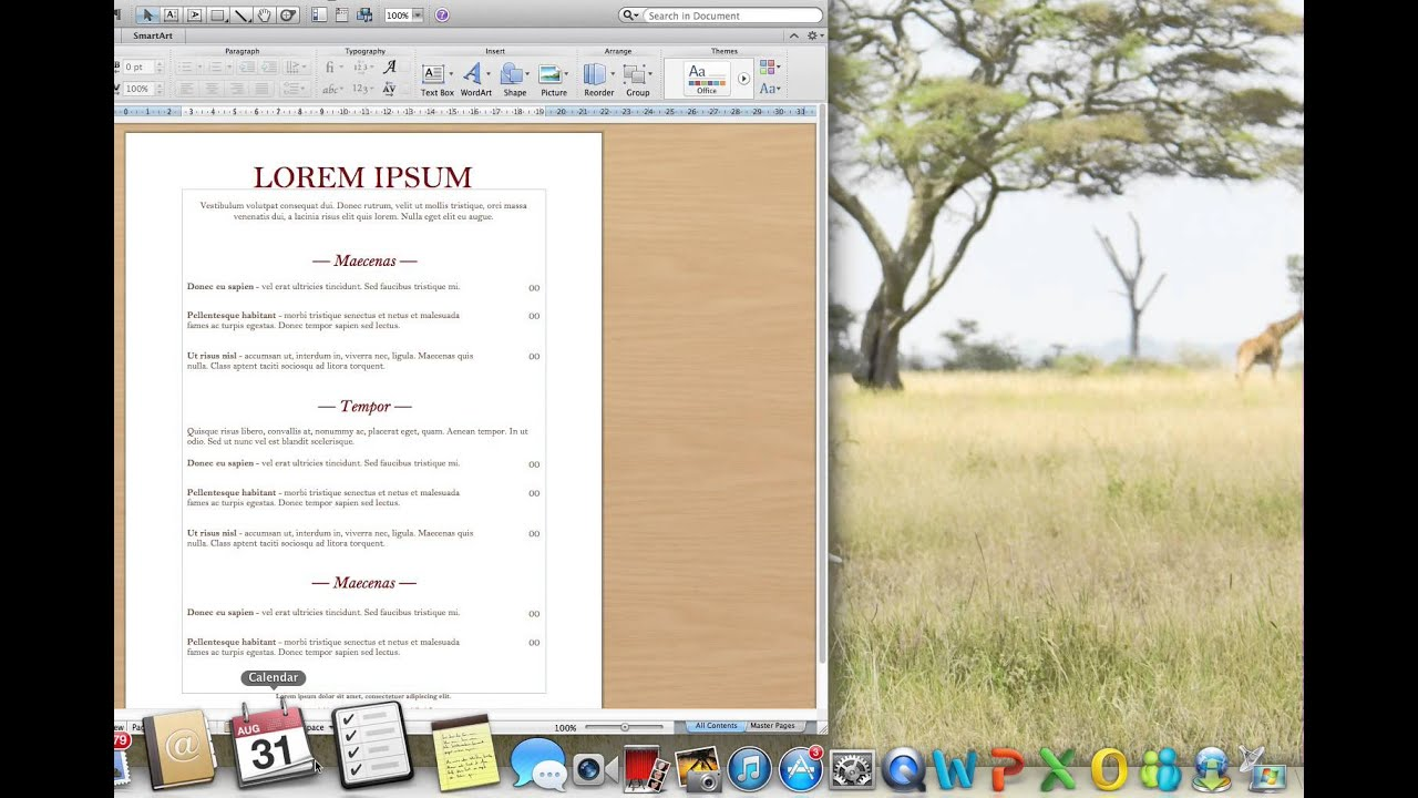 How to make a menu in MS word YouTube – How to Make a Restaurant Menu on Microsoft Word