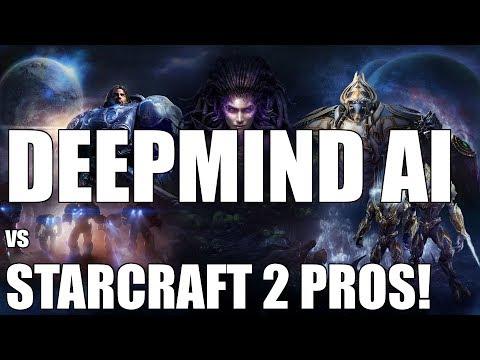 DeepMind AI Battles Starcraft 2 Pros    AlphaStar vs Team Liquid's TLO & Mana!