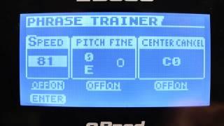 BOSS Tutorial Teil 3: BOSS JS-10 eBAND Audioplayer mit Gitarreneffekten