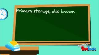 Storage: primary storage