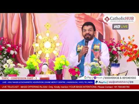HOLY MASS | CONFESSION Part - 3 | REV.FR.BENNY SVD | DMC | HABSIGUDA | HYD | TS | 09-05-2020