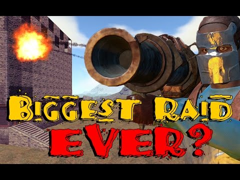Biggest raid in Rust History, 5 clans and other factions group together to take our the most powerful clan on the server, the result is epic