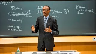 President Kagame speaking as guest lecturer at Harvard Business School | Boston, 26 February 2016