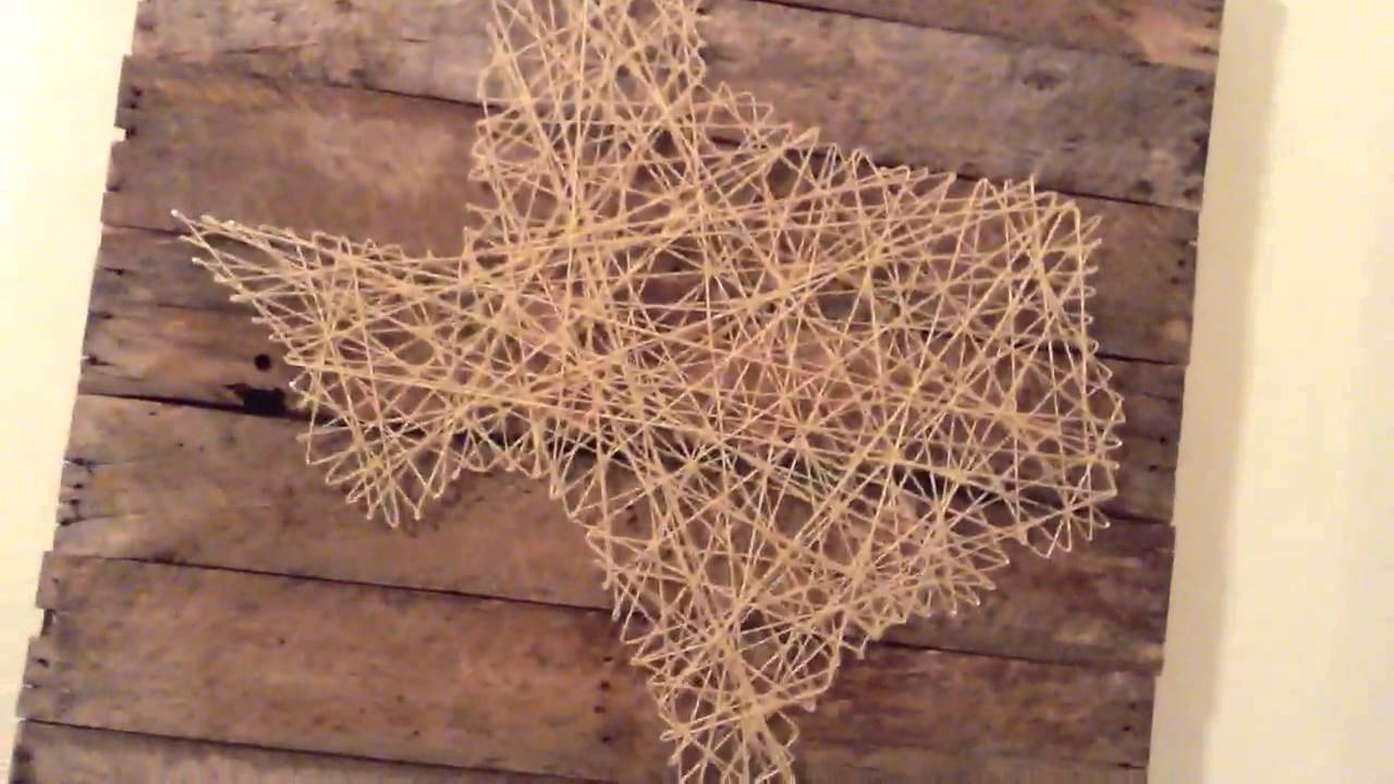 Texas String Art On Pallet Wood Youtube