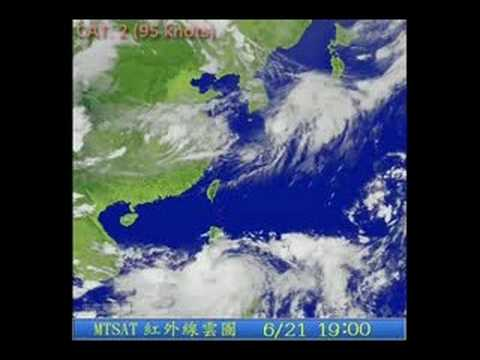 Typhoon FENGSHEN (2008/07W) satellite imagery 颱風風神衛星動畫圖