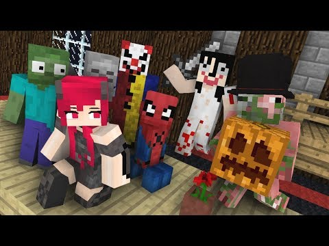 Monster School : Halloween Party Part 1 (Minecraft Monster S