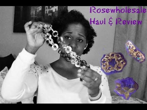 RoseWholeSale Jewelry Haul & Review