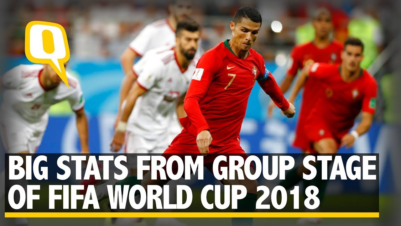 Big Stats From The Group Stage of The 2018 FIFA World Cup