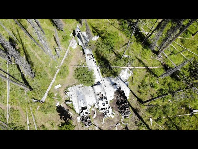 Hiking to the WWII bomber at Loon Lake