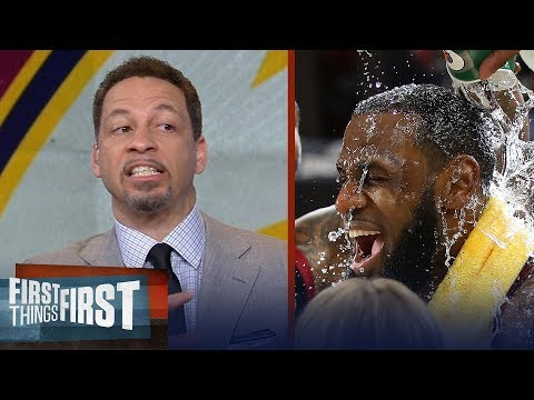 Chris Broussard on LeBron's clutch three, Compares King James to Michael Jordan | FIRST THINGS FIRST