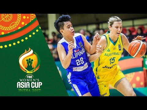 HIGHLIGHTS: Perlas Pilipinas vs. Australia (VIDEO) FIBA Women's Asia Cup 2017