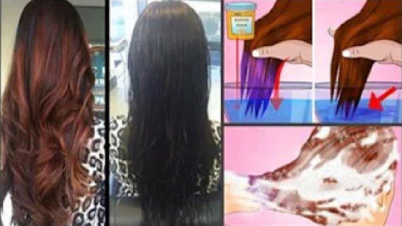 avfärga håret med bikarbonat
