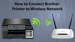 brother DCP T500W Wifi Setup  How to connect Printer to Wireless Network
