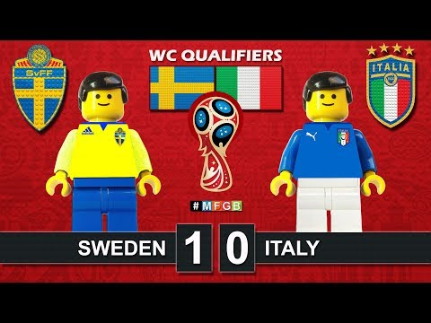Sweden vs Italy 1-0 • World Cup 2018 Qualifiers (10/11/2017) • Svezia Italia Lego Goal Highlights