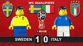 Sweden - Italy 1-0 • World Cup 2018 Qualifiers (10/11/2017) • Svezia Italia Lego Goal Highlights