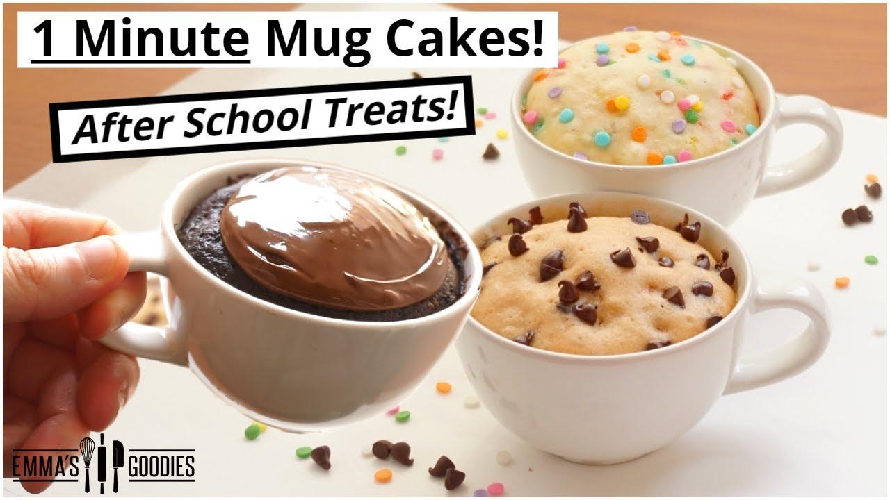 1 minute microwave mug cake recipes 3 back to school treats