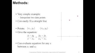 Interpolation, approximation and extrapolation: lecture 1 (part 1 of 2)