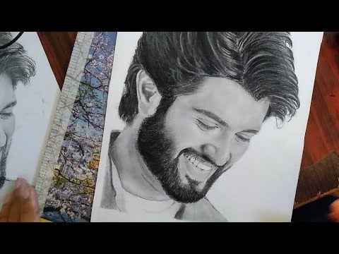 Drawing Vijay Deverakonda Realistic Pencil Sketch Youtube