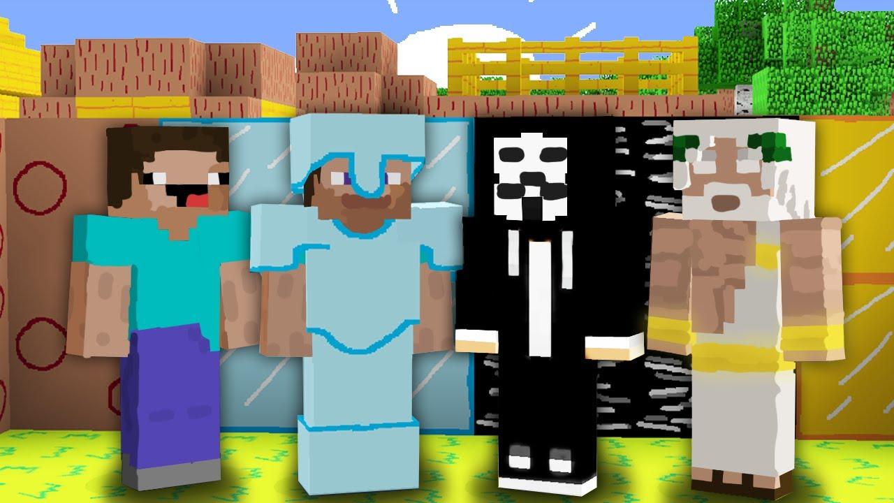 НАРИСОВАННЫЙ МАЙНКРАФТ : НУБ ПРОТИВ ПРО ПРОТИВ ЧИТЕР ПРОТИВ БОГ БАТЛ 100% Троллинг Ловушка Minecraft